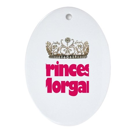 Princess Morgan Oval Ornament