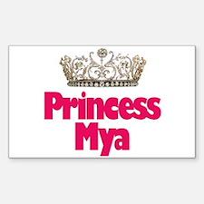 Princess Mya Rectangle Decal