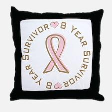 8 Year Breast Cancer Survivor Throw Pillow