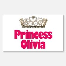 Princess Olivia Rectangle Stickers