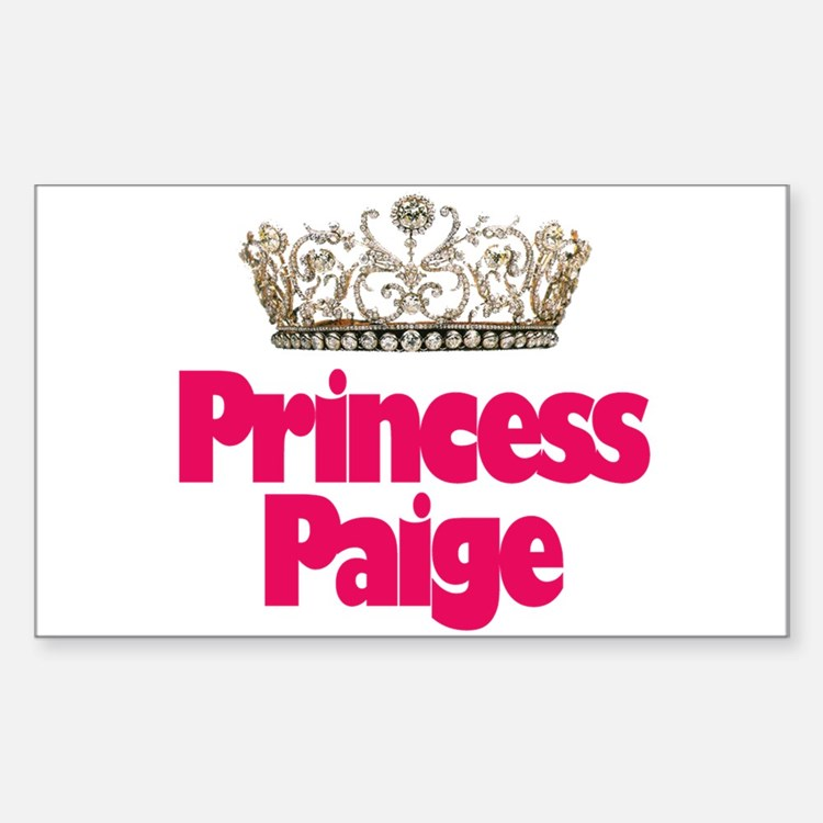 Princess Paige Rectangle Decal