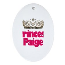 Princess Paige Oval Ornament