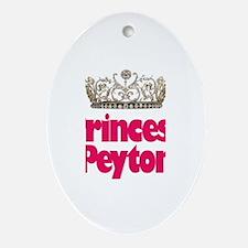 Princess Peyton Oval Ornament