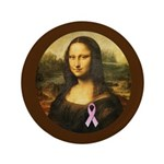 Mona Lisa with Pink Ribbon 3.5