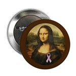 Mona Lisa with Pink Ribbon 2.25