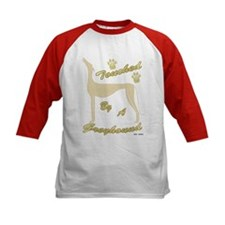 TOUCHED BY A GREYHOUND (FAWN) KIDS BASEBALL JERSEY