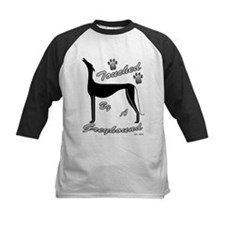TOUCHED BY A GREYHOUND (BLK) KIDS BASEBALL JERSEY