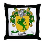 Hastie Family Crest Throw Pillow