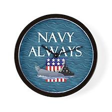 Navy Always Wall Clock