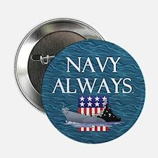 """Navy Always 2.25"""" Button (100 pack)"""