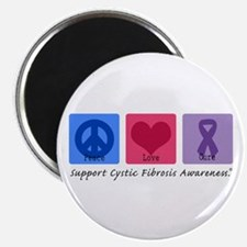 "Peace Love Cure CF 2.25"" Magnet (10 pack)"