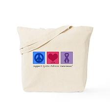 Peace Love Cure CF Tote Bag