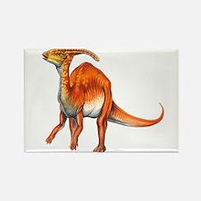 Parasaurolophus Jurassic Dinosaur Rectangle Magnet