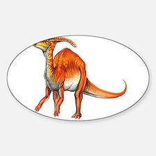Parasaurolophus Jurassic Dinosaur Oval Decal