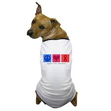 Peace Love Cure AIDS Dog T-Shirt