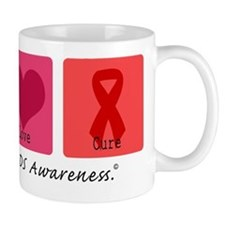 Peace Love Cure AIDS Mug