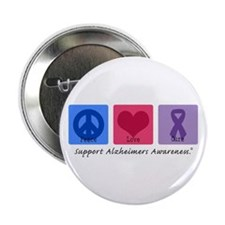 """Peace Love Cure AD 2.25"""" Button (10 pack)"""