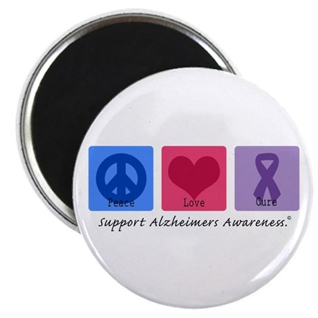 "Peace Love Cure AD 2.25"" Magnet (10 pack)"