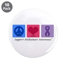 """Peace Love Cure AD 3.5"""" Button (10 pack)"""