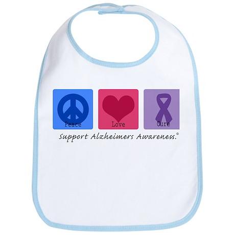 Peace Love Cure AD Bib