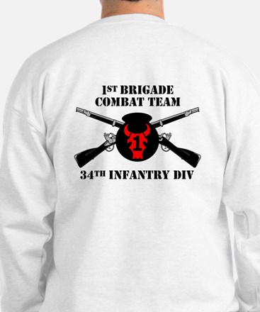 2-Sided 2nd BCT 34th Infantry Div (1) Sweatshirt