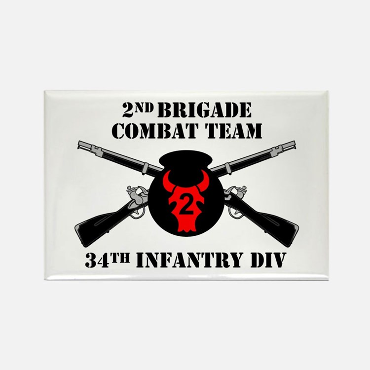 2nd BCT 34th Infantry Division (1) Rectangle Magne