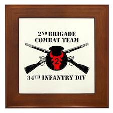 2nd BCT 34th Infantry Division (1) Framed Tile