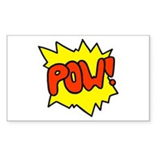 'Pow!' Rectangle Decal