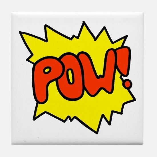 'Pow!' Tile Coaster