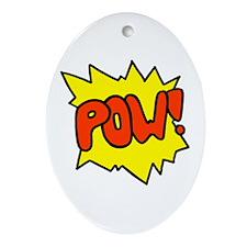 'Pow!' Oval Ornament