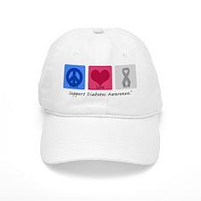 Peace Love Cure Diabetes Baseball Cap