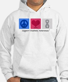 Peace Love Cure Diabetes Hoodie