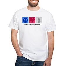 Peace Love Cure Diabetes Shirt