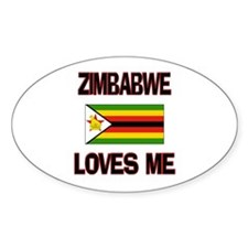 Zimbabwe Loves Me Oval Decal