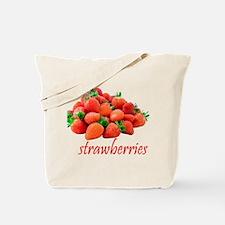 Juicy Red Strawberries Tote Bag