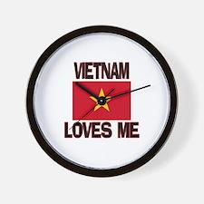 Vietnam Loves Me Wall Clock