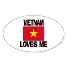 Vietnam Loves Me Oval Decal