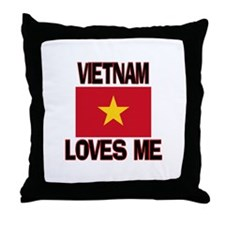 Vietnam Loves Me Throw Pillow
