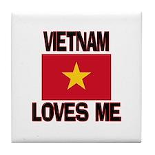 Vietnam Loves Me Tile Coaster