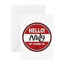 Hello My Name is Andy Greeting Card