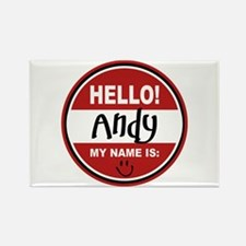 Hello My Name is Andy Rectangle Magnet