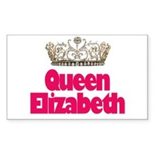 Queen Elizabeth Rectangle Decal