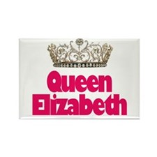 Queen Elizabeth Rectangle Magnet