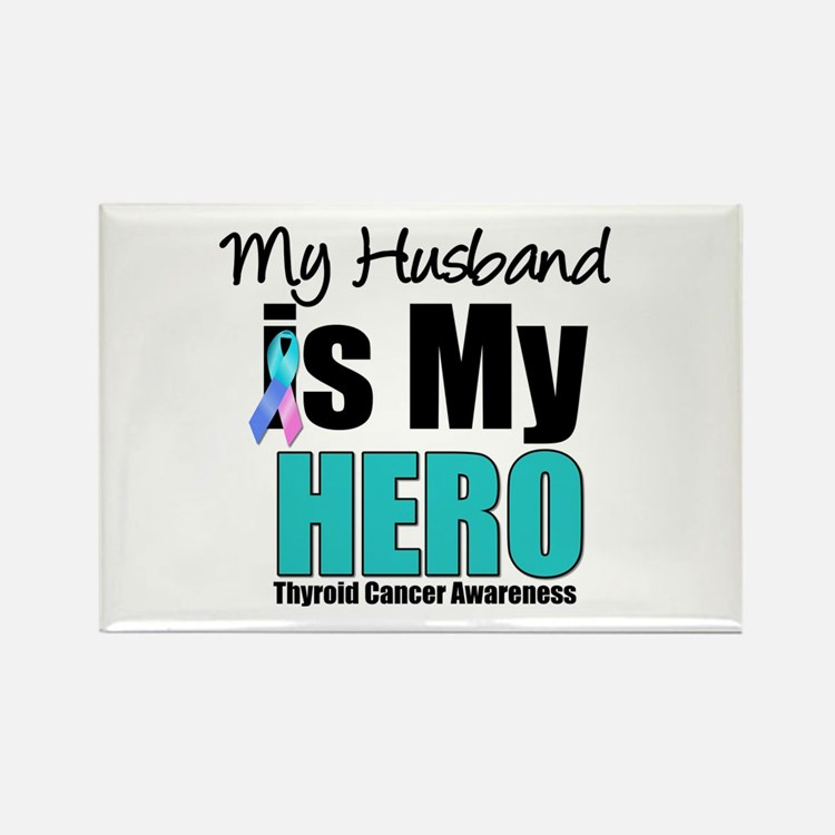 Thyroid Cancer Hero Rectangle Magnet