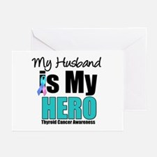 Thyroid Cancer Hero Greeting Cards (Pk of 10)