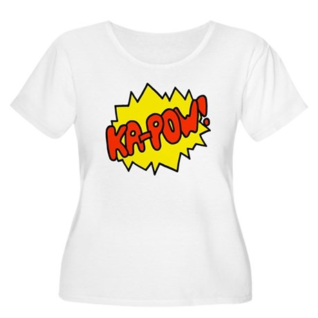 'Ka-Pow!' Women's Plus Size Scoop Neck T-Shirt