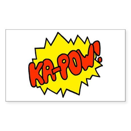 'Ka-Pow!' Rectangle Sticker