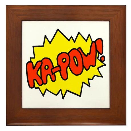 'Ka-Pow!' Framed Tile