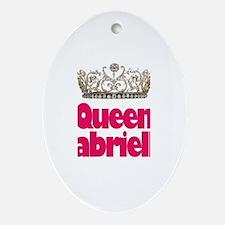 Queen Gabriella Oval Ornament