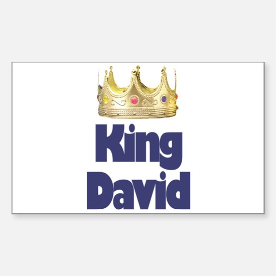 King David Rectangle Decal